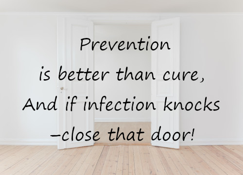 Senior health issues - close the door on infection!