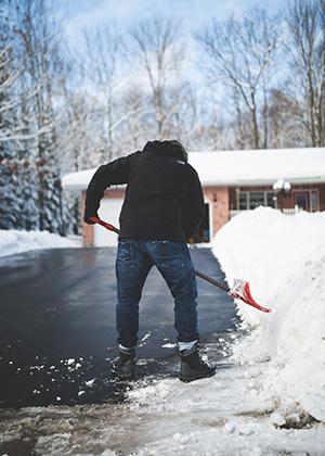 senior rehab due to shoveling snow